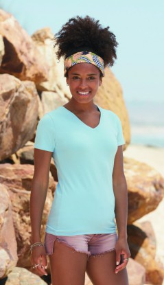 New Lady-Fit V-Neck T – Bild 1