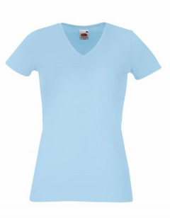 New Lady-Fit V-Neck T – Bild 5